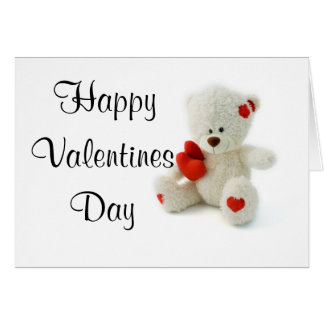 Valentine's Day Card Teddy Bear