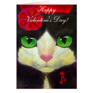VALENTINE'S DAY CARD - TUXEDO CAT