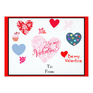 "Valentine's Day cards for kids 5"" X 7"" Invitation Card"