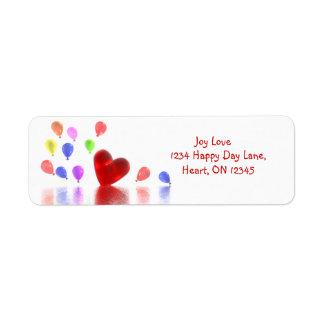 Valentines Day Celebration Return Address Label