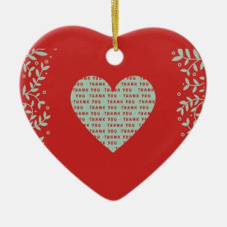 valentines day ceramic ornament
