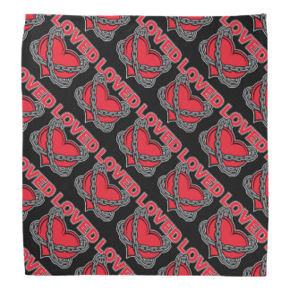Valentines Day Chained Loved Heart Bandana