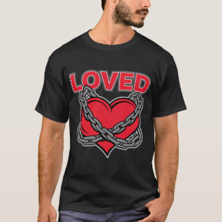 Valentines Day Chained Loved Heart T-Shirt