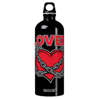Valentines Day Chained Loved Heart Water Bottle