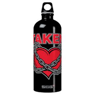 Valentines Day Chained Taken Heart Water Bottle