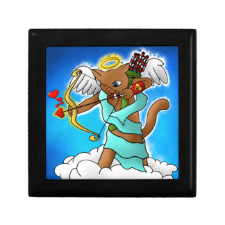 Valentine's Day Chocolate Brown Cupid Cat Gift Box