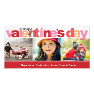 Valentine's Day Colorful Letters Picture Card