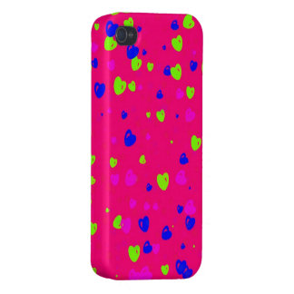 Valentine's Day Colourful Hearts Phone Case iPhone 4 Covers