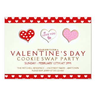 Valentines Day Cookie Swap Party Invitations