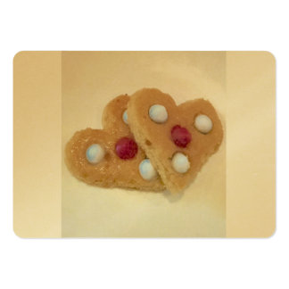 Valentine's Day Cookies by Ishah Large Business Card