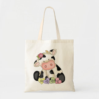 Valentine's Day Cow tote bag