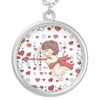 Valentine's Day Cupid Hearts Sterling Silver Neckl Pendant
