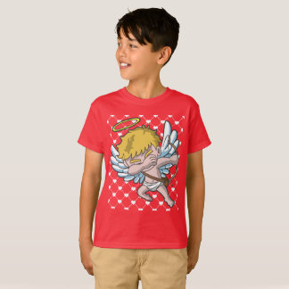 Valentine's Day Dabbing Cupid Heart Pattern T-Shirt