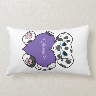 Valentine's Day Dalmatian Dog with Purple Heart Pillow