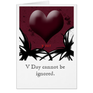 Valentines Day Dark Card