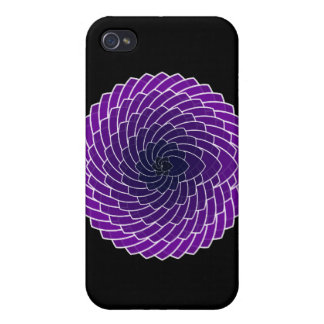 Valentine's Day Dark Purple Hearts iPhone 4/4S Cover