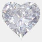 Valentine's Day - Diamonds Heart Sticker