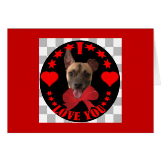VALENTINE'S DAY DOGGY GREETING CARD