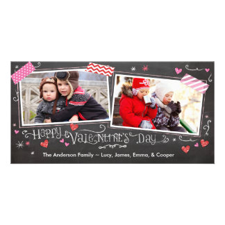 Valentine's Day Doodles with Tape Picture Card