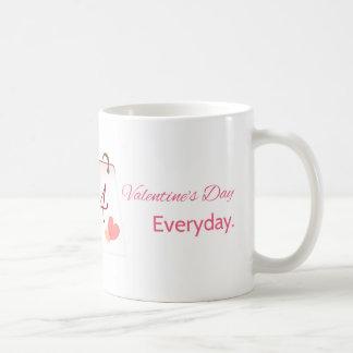 Valentine's day everyday classic white coffee mug