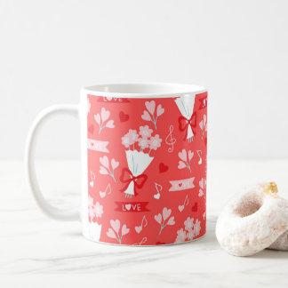Valentine's Day Flowers Chocolates Hearts Pink Coffee Mug