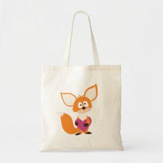Valentine's Day Fox Tote Love Bag - Foxy Heart