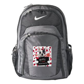Valentine's day french bulldog backpack