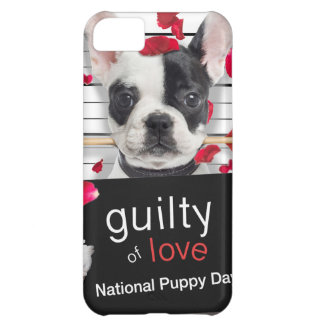 Valentine's day french bulldog case for iPhone 5C