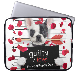 Valentine's day french bulldog computer sleeve