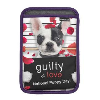 Valentine's day french bulldog iPad mini sleeve