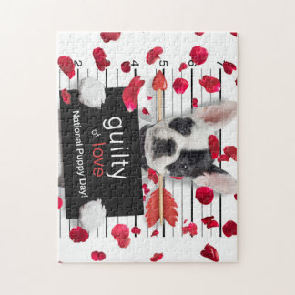 Valentine's day french bulldog jigsaw puzzle