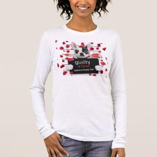 Valentine's day french bulldog long sleeve T-Shirt