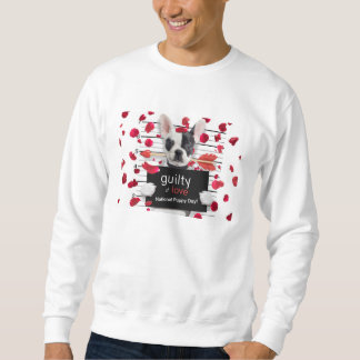 Valentine's day french bulldog sweatshirt