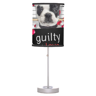 Valentine's day french bulldog table lamp