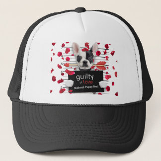 Valentine's day french bulldog trucker hat