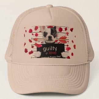 Valentine's day french bulldog trucker hat
