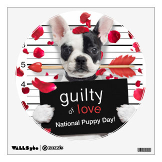 Valentine's day french bulldog wall decal