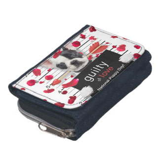 Valentine's day french bulldog wallet