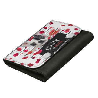 Valentine's day french bulldog women's wallet