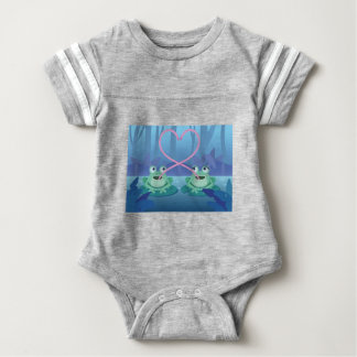 valentines day frog lovers baby bodysuit