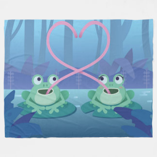 valentines day frog lovers blanket