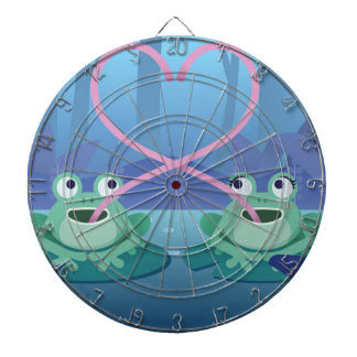 valentines day frog lovers dartboard