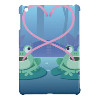 valentines day frog lovers iPad mini cover
