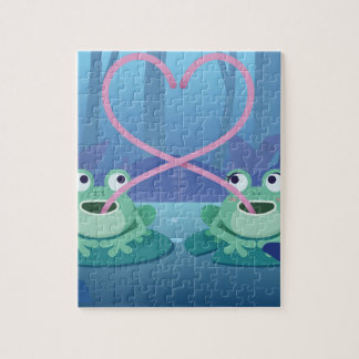 valentines day frog lovers jigsaw puzzle