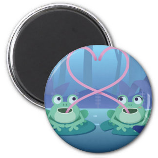 valentines day frog lovers magnet