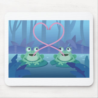 valentines day frog lovers mouse pad