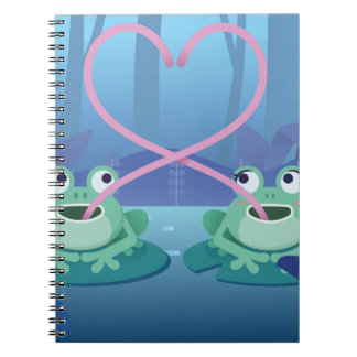valentines day frog lovers notebook