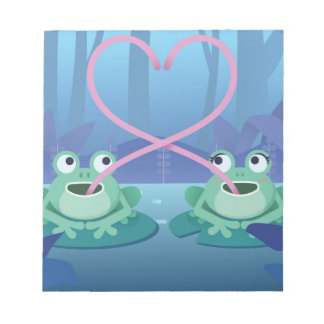 valentines day frog lovers notepad