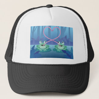 valentines day frog lovers trucker hat