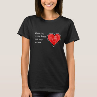 Valentine's Day Fun Women T-shirt Inviting Heart
